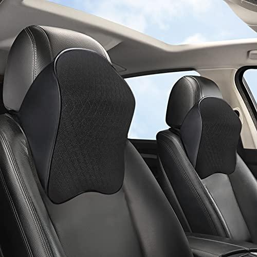Memory Foam Car Neck Pillow, Ergonomic Neck Support Pillow for Driver or Front Passenger Seat - Help Relieve Neck Pain & Improve Circulation/Fit Most Vehicles(Black 1pcs)