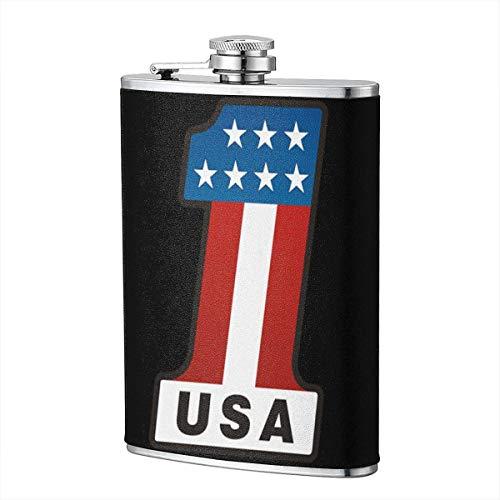 USA Nummer 1 Flagge Flachmann für Schnaps Flasche Wein Flagon Mug lustige Neuheit 8oz