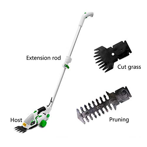 Great Price! Electric Grass Trimmer,2 in 1 Cordless Grass and Hedge Trimmer, 2 Interchangeable Bla...