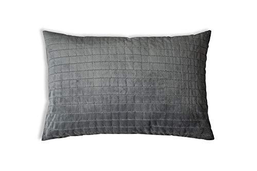 Original Gravity Therapiekissen Gesundheitskissen für Erwachsene gegen Schlafprobleme, Grau, Zirbenholz, 40 x 80 cm