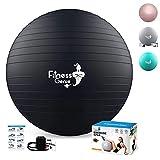 Pelota de Pilates Embarazadas 65cm – Fitness Yoga Fitball para Ejercicios Gimnasia | Balon de Ejercicio para Fitness anti-explosión con Bomba de Aire pelota de parto