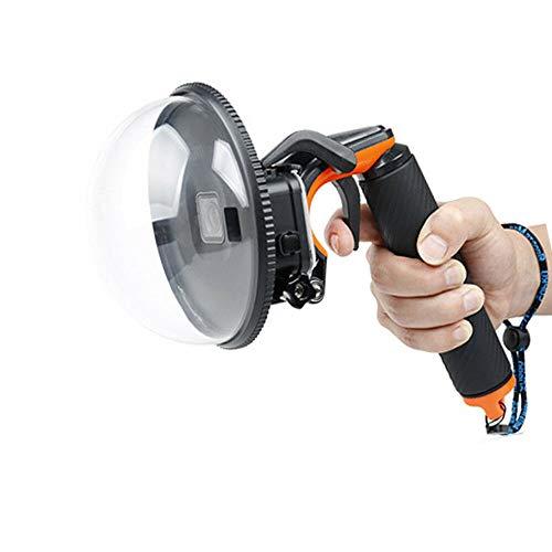 Futchoy Cámara Dome Port sumergible, carcasa impermeable para cámara de buceo, carcasa para GoPro Hero 5/6/7