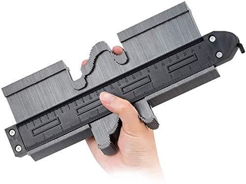 Jauge de contour en plastique avec serrure 25cm jauge de profilé règle de mesure de mesure pour précision de mesure de carrelage outil de marquage du bois stratifié (10 INCH)