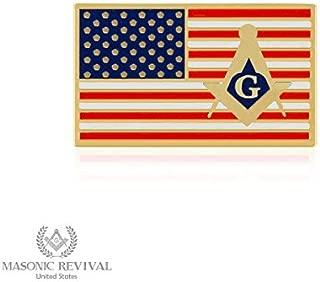 masonic flag pin