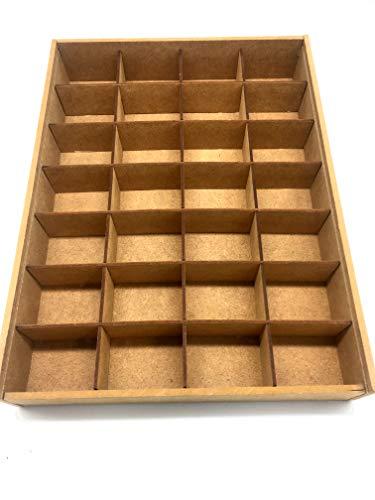 Wood Addicts - Scatola per Piccoli Oggetti, Gioielli, Perle, Viti, bigiotteria, ferramenta, Collezioni, lamiere, ECC.