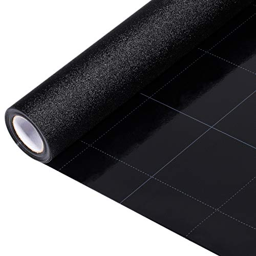Blackout Window Film, Static Cling Window Tint 100% Light Blocking Glass Window Cover for Home Privacy, Room Darkening, Nap Time, Night Working, Baby Room, Day Sleeping (Matte Black, 17.7x78.7 Inch)