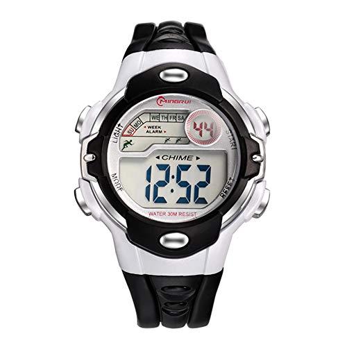 Relógio eletrônico infantil Szkn para esportes ao ar livre, à prova d'água, relógio eletrônico, Preto