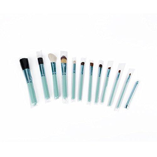 ForceSthrength 12 pcs Maquillage Cosmétique Animal Brosse Fondation Sourcils Fondation Pinceaux Poudre Ensemble, Bleu
