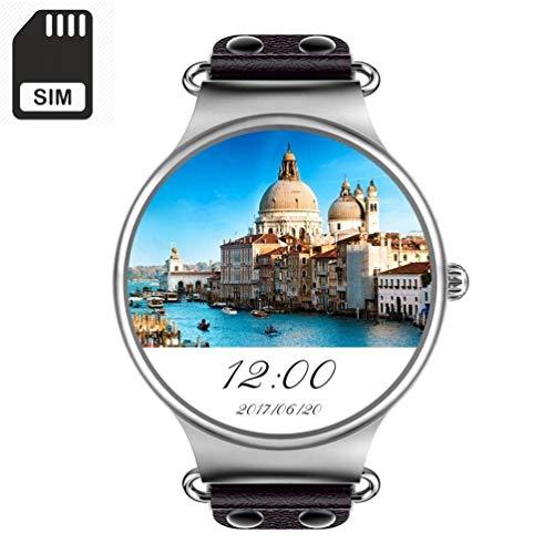 Msxx Msxx Smart Watch, Smart Watches mit SIM-Kartenschlitz/Quad Core, 512 M+8 GB, HD/WiFi/GPS/Bluetooth/Activity Tracker/Herzfrequenzmesser/Unterstützung für Android und Apple Watch, Schwarz