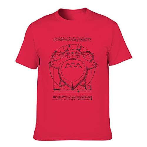 to-to-ro vi-truvian 3D Digitaldruck Bunt Kurzärmliges T-Shirt mit Arbeitskleidung für Vater Mutter Sohn Tochter red1 s