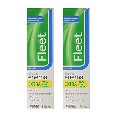 Fleet Saline Laxative Enema 7.8 oz (Pack of 2)