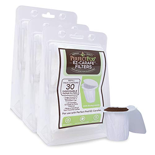 EZ-Carafe Disposable Paper Filters by Perfect Pod, 3-Pack (90 Filters)