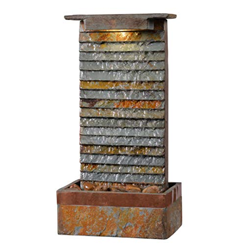 Kenroy Home 51023SLCOP Stave Fountains, Slate and Copper