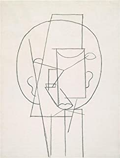 Perfect Effect Canvas ,the High Definition Art Decorative Prints On Canvas Of Oil Painting 'Pablo Picasso-Head,1913', 10x13 Inch / 25x33 Cm Is Best For Powder Room Decoration And Home Gallery Art And Gifts