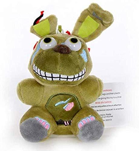 DINEGG Plüschspielzeug Plüsch fünf Nächte bei Freddy S 4 Plüsch Freddy Bär Foxy Chica Bonnie Plüsch Stofftier Puppe für Kinder Geschenke 25cm YMMSTORY