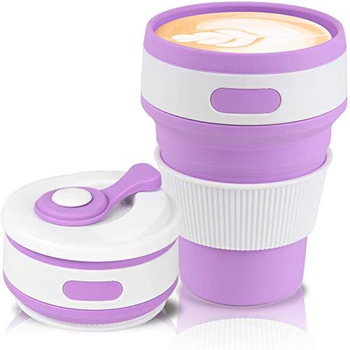 Taza de café Taza Plegable con Pegamento Taza de Agua telescópica Plegable Creativa Taza de café Plegable de Silicona