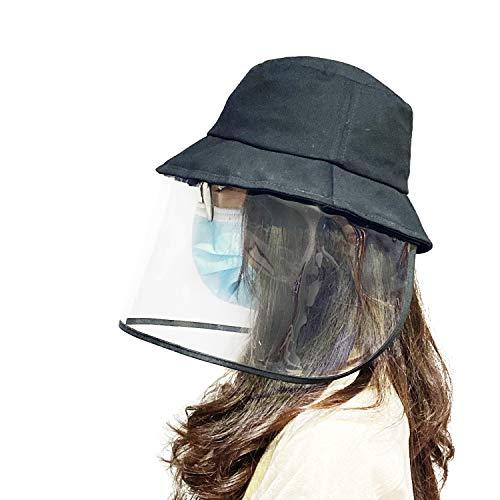 Kemier Anti-Beschlag-Staubspritzer Winddicht Abnehmbarer Fischerhut im Freien,Visiermaske,Einstellbare/UV-Isolierung Sonnenhüte