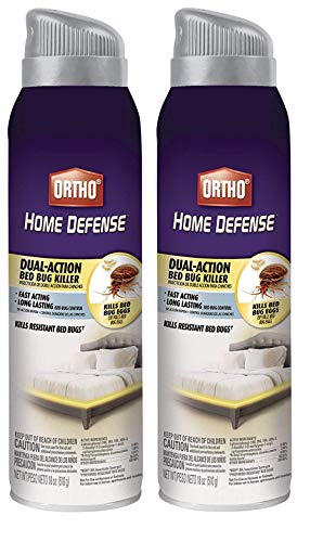Ortho Home Defense Dual-Action Bed Bug Killer Aerosol Spray, 18-Ounce (3 Pack)