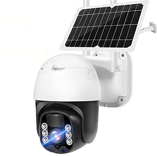 KANGLE-DERI Cámara de batería WiFi IP 3MP HD 8W Panel Solar Powered PTZ Security CCTV Vigilancia de la vigilancia de la batería Recargable al Aire Libre Cámara inalámbrica