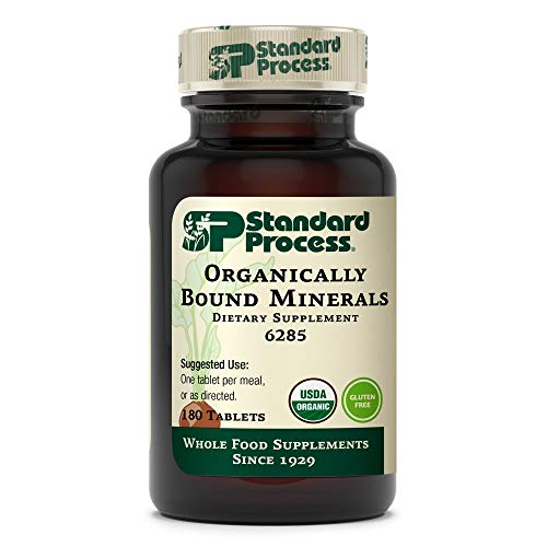 Standard Process Organically Bound Minerals - Whole Food Nervous System Supplements, Iodine Supplement and Thyroid Support with Alfalfa and Kelp - 180 Tablets