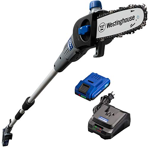 Westinghouse Cordless Pole Saw, 2.0 Ah Battery and Rapid Charger Included