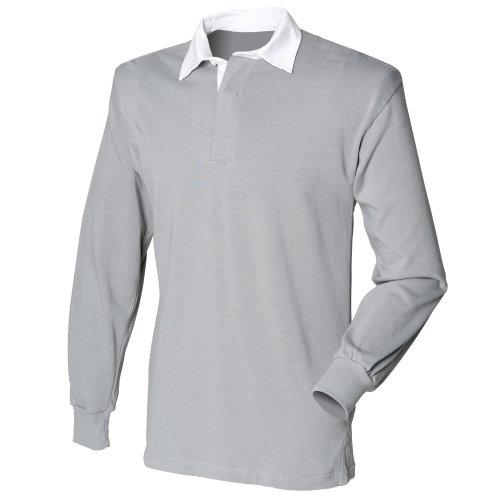 Front Row - T-shirt de rugby à manches longues en coton - Homme (L) (Gris ardoise)