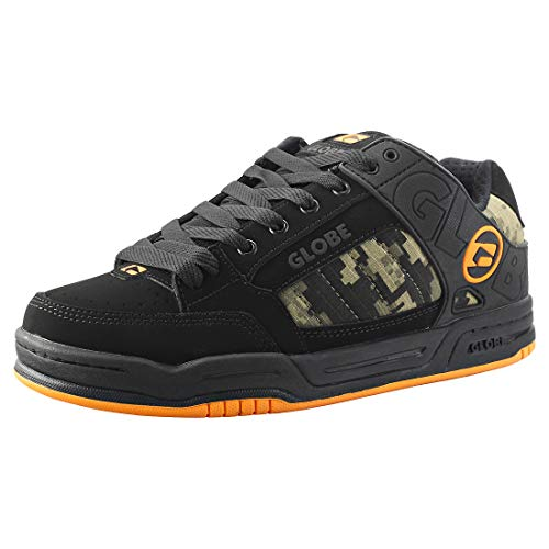 GLOBE Tilt, Zapatillas de Skateboarding Hombre, Negro (Black/Camo/Orange 20388), 42.5 EU (9.5 US)