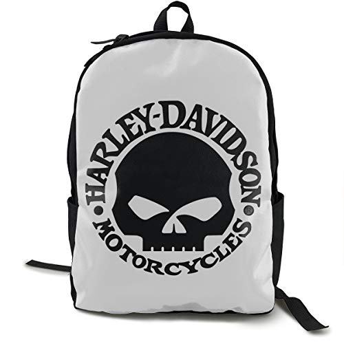 Harley Davidson Rucksack, Daypack Tagesrucksack Für Schule, Arbeit Und Uni, Sportrucksack Und Schultasche Mit Laptopfach Und Rückenpolster