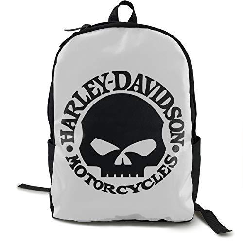 Zaino Harley Davidson Daypack per scuola, lavoro e università, zaino sportivo e borsa per la scuola, con scomparto per laptop e imbottitura posteriore