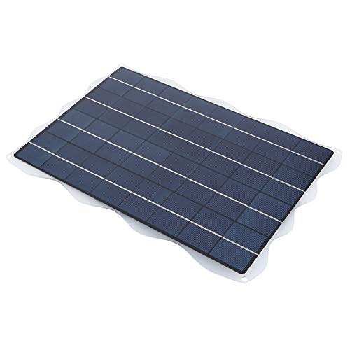 JIUA El Cargador De Batería del Panel De Energía Solar De 20W 18V con Soporte para Viajes Al Aire Libre Camping Picnic Portátil Cargador Solar Tablero