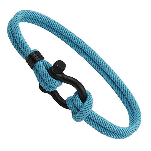 Pulsera trenzada de cuerda náutica para hombre con cierre para hombre, mujer, unisex, amistad, brazalete, pulsera de ancla, brazalete tejido a mano, brazalete
