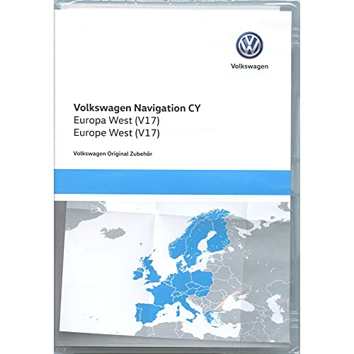 Volkswagen 1T0051859AS Navegador DVD-ROM CY Europa West V17, Solo para RNS 510/810