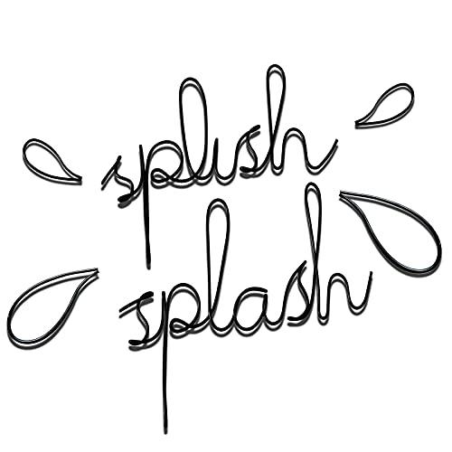 Bathroom Decor Splish Splash Sign Black Wall Art Nursery Decor Bath Funny Decor Women Gift