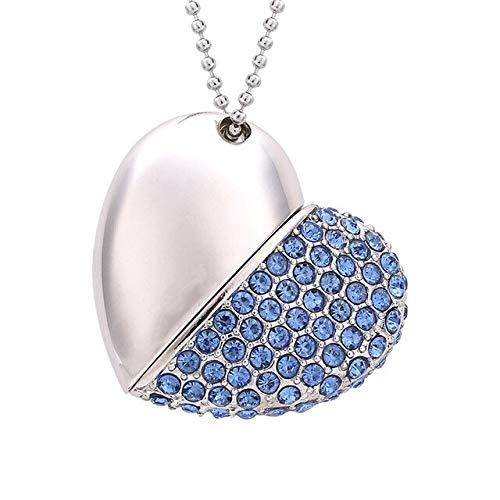 USB Memory Stick Keyring Gift Stylish Cartoon crystal diamond love heart usb precious stone flash drive special flash drive memory
