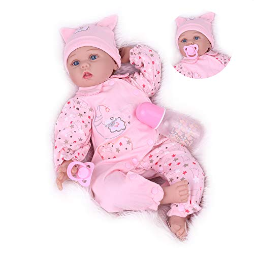 Kaydora Reborn Baby Doll Girl, 22 Inch Realistic Newborn Baby Doll, Handmade Reborn Weighted Dolls That Look Real