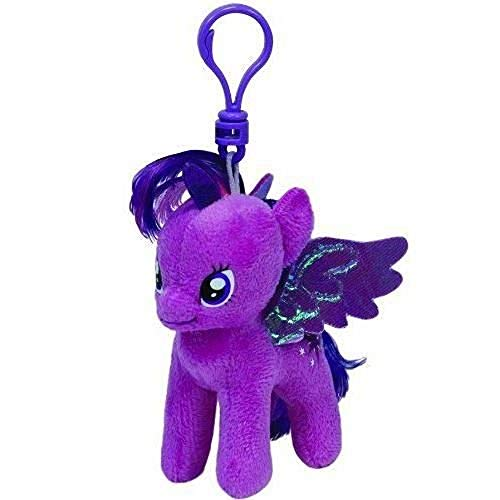 Carletto Ty 41104 - My Little Pony Clip - Twilight Sparkle, Plüschtier, 10 cm