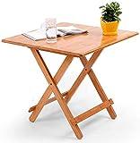 Mesa de comedor plegable pequeña mesa auxiliar redonda de bambú mesa...