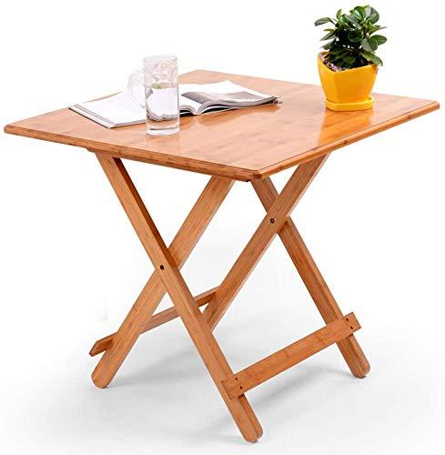 Mesa de comedor plegable pequeña mesa auxiliar redonda de bambú mesa de ordenador portátil bandeja de snack mesa de...