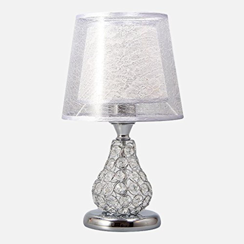 LILY Doppelte Lampen-Schatten-Kristalltisch-Lampe, doppelte Knopf-doppelte helle Garten-europische Art-Lampe E27 ( Farbe   Weiß )
