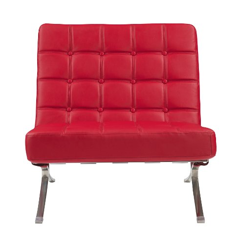Global Furniture U6293-RD-CH accent chair, Red