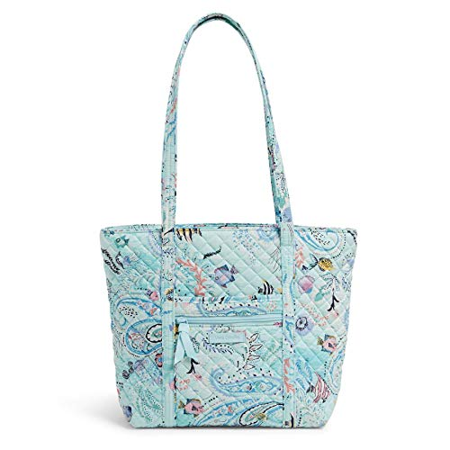 Vera Bradley Signature Cotton Small Vera Tote Bag, Paisley Wave