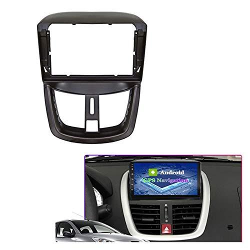 Rumors Adaptador De Ajuste De Audio De Fascia De 9 Pulgadas Audio Kits De Panel De Navegación Coche DVD Frame Dashboard Fit para Peugeot 207 2002-2010 (Color Name : Black)