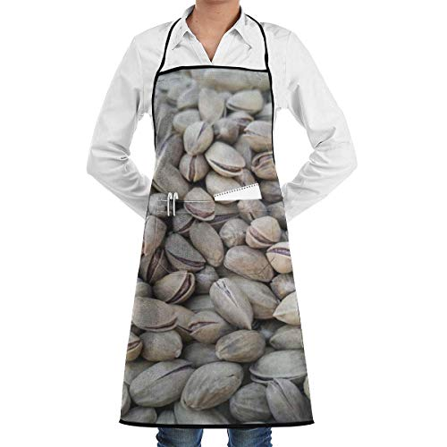Lawenp Peanut Shelled Core Nutrition Vitamin Vegan Apron with Pockets for Grill BBQ Kitchen Cooking Artist Painting Men and Women