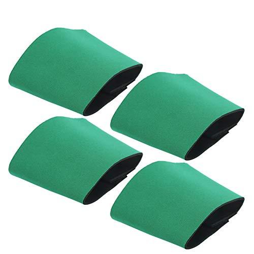 DAUERHAFT Tapa de la Botella Material de la Tapa de la Botella de Neopreno Suave y elástica Línea de Costura Suave Protección del Medio Ambiente, para reemplazar la servilleta y la Tapa del(Green)