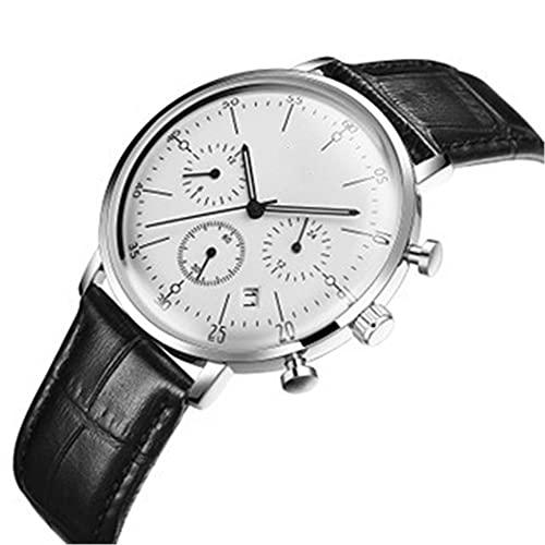 YiChuangMaoYi Ver el cinturón de Moda del Reloj de Cuarzo con Reloj de Calendario (Color : A)