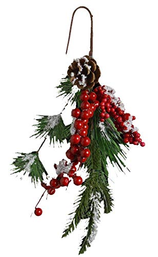 Toyland Christmasland 58cm Christmas Holly Branch Artificial Snow - Decorazioni per L'Albero di...