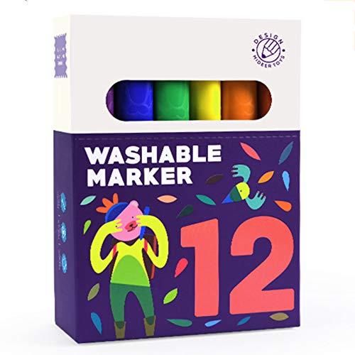 Permanente Marker 12 Farben Feiner Punkt Marker-Fineliner-Stift auf Wasserbasis für die Kalligraphie von Zeichenjournalen