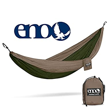 Eagles Nest Outfitters ENO DoubleNest Hammock, Portable Hammock for Two, Khaki/Olive (FFP)