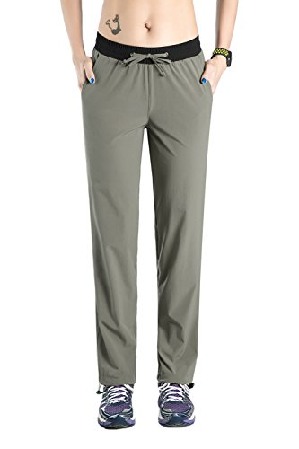 Nonwe Women's Outdoor Sports Quick Dry Hiking Mountain Sports Pants Light Gray M/32 Inseam