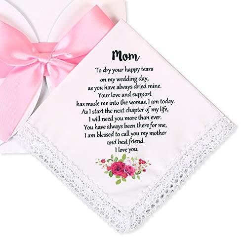 Wedding Handkerchief for Bride's Mother, Mom Wedding Gift from...